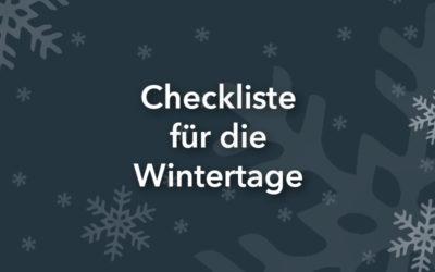 Checkliste für die Wintertage